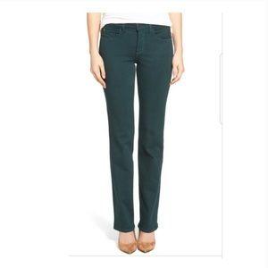 NYDJ Green Marilyn Straight Leg Jeans